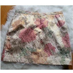 H&M Metallic Floral Skirt
